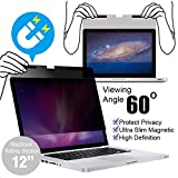 KAEMPFER Ultra Slim Magnetic Privacy Filter for Apple MacBook 12''(2015-2017 Model A1534) Retina Display Easy On/Off Korea LG Filter High Definition Anti-Blue Light Glare Scratch Screen Protector
