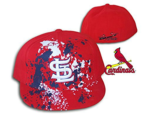 Genuine Merchandise St. Louis Cardinals Paint Fitted Size 7 1/8 Cooperstown Collection Hat Cap - Red