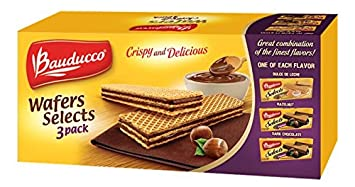Bauducco Wafer Selects 3 Pack - Hazelnut, Dulce de Leche & Dark Chocolate, 17.47