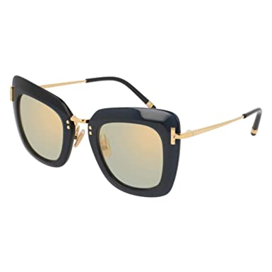 Amazon.com: Gafas de sol Boucheron BC 0015 S- 007 BLUE/GOLD ...