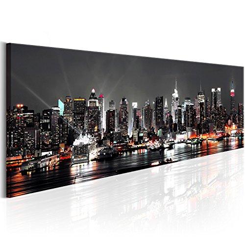SENSATIONSPREIS ! Bilder 115x40 cm - XXL Format - Vlies Leinwand - Fertig Aufgespannt - Top - Wandbilder - Wand Bild - Kunstdrucke - Wandbild - New York d-B-0090-b-a 115x40 cm B&D XXL