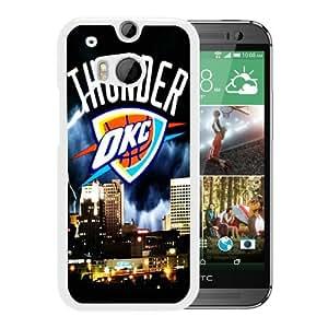 okc thunder White New Design HTC ONE M8 Protective Phone Case