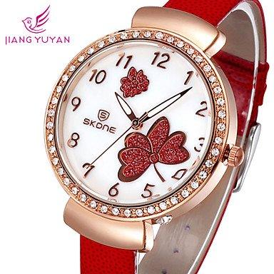 fenkoo famosos Marca Flores Mujeres Cuarzo Reloj mujer Mode LÄSSIG brillantes kleiden Reloj Reloj de pulsera