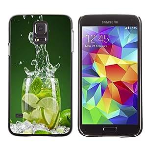 SAMSUNG Galaxy S5 V / i9600 / SM-G900 , Radio-Star - Cáscara Funda Case Caso De Plástico (Lime Splash)