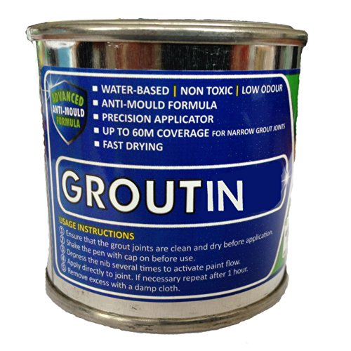 Beige Tile Grout Paint ideal to refurbish tile grout in bathrooms and kitchens