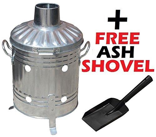 Mini Garden Incinerator Small 15L Rubbish Waste Paper Document Burning Fire Bin + FREE Mini Shovel S&MC Gardenware