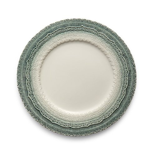 Arte Italica Finezza Green Holiday Charger Plate