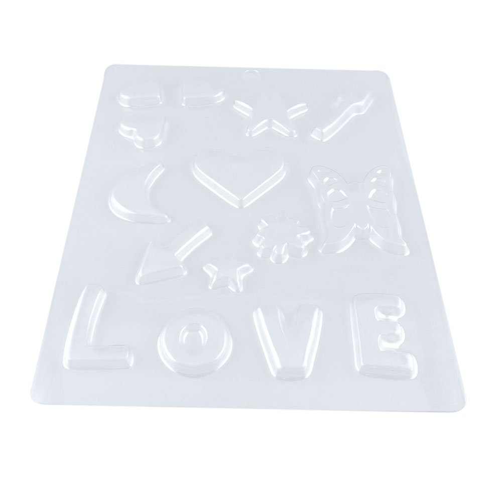 100 PCS Chocolate Molds Baby Shower Candy Making Supplies Jelly Maker Wholesale ZW059 LOVE Heart Butterfly