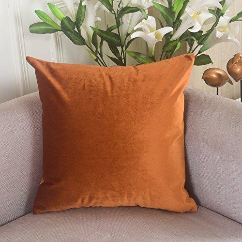 Deluxe Velvet Decorative Pillow Copper