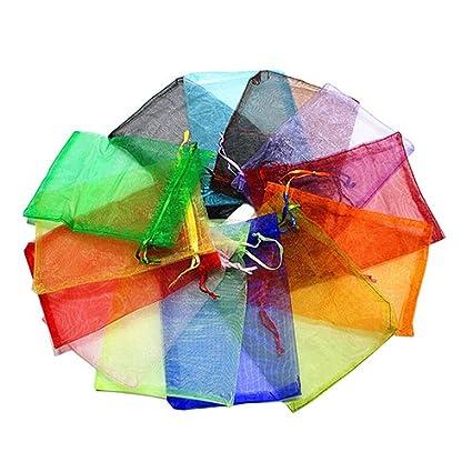 BRUSSELS08/50/pz sheer Drawstring organza Jewelry Pouches wedding favor Bags party festival sacchetti di caramelle regali gioielli della campioni display con coulisse sacchetti regalo Wrap borse