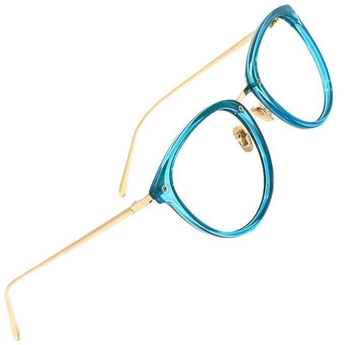Tijn redondo de clásico óptico anteojos sin receta anteojos de marco ...