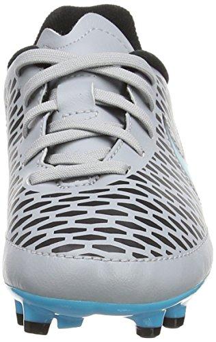 Nike Hypervenom Phelon Ii Fg, Botas de Fútbol para Niños, Metallic Pewter-Black-Ghost Green-White, UK Gris (Gris/Azul)