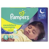Diapers Size 6, 42 Count - Pampers Swaddlers Overnights Disposable Baby Diapers, Super Pack (Packaging May Vary)