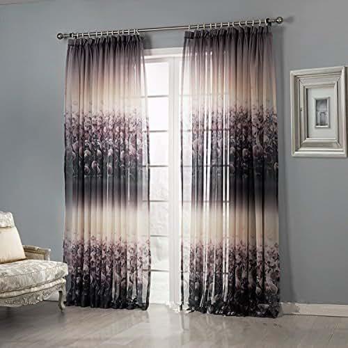 Amazon.com: Contemporary Semi Blackout Curtains For Living
