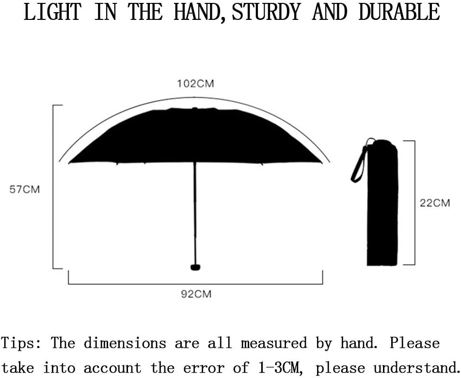 Rain Resistant Compact Size Parasol,Internalvinyl SANNII Folding Travel Sun Umbrella Lightweight Sunblock UV Protection UPF 50