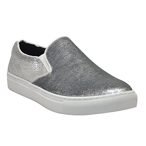 MIDNIGHT Slip Mens AFTER Silver On Sequins 6758 Loafers PSqWwIxdOw