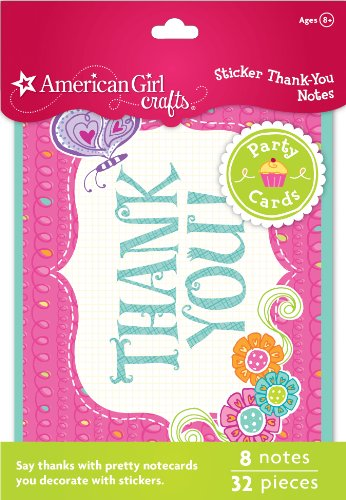 American Girl Crafts Thank-You Notes (American Doll Party Supplies)