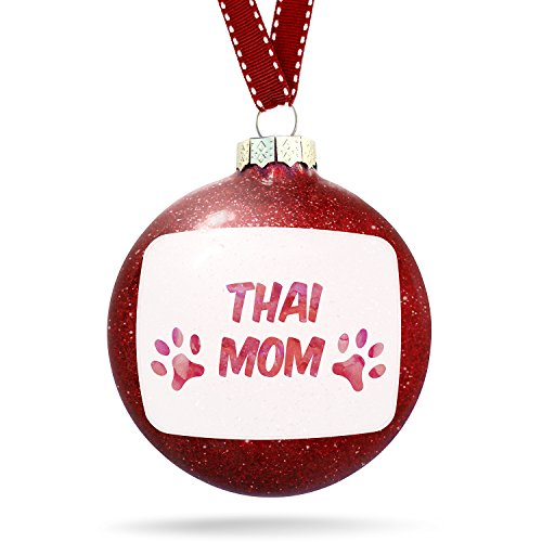 Christmas Decoration Dog & Cat Mom Thai Ornament by NEONBLOND