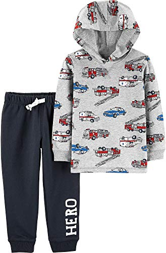 Carter's 2-Piece Hero Vehicle Hoodie & French Terry Jogger Set, 18 Months -