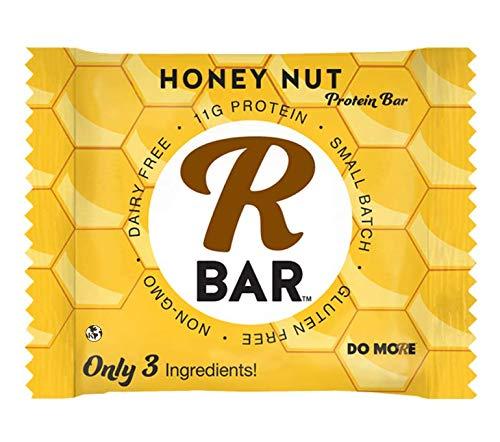 RBAR Honey Nut Protein Bar - no Gluten Vegan Energy Bar - Breakfast Snack (5-pack)
