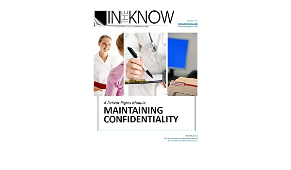 Nurse Aide Inservice Maintaining Confidentiality From In