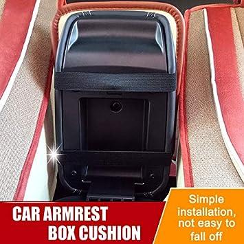 Consola Central de Piel Suave Duradera para la mayor/ía de veh/ículos Coches Gelentea Funda Universal para reposabrazos de Coche SUV Camiones