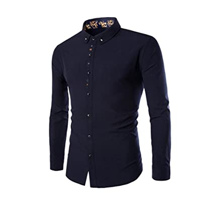 4840a80a Long Sleeve Men Tops Shirt Casual Shirt Tops for Men Autumn Slim Fit Print  Pattern Shirt Fashion Normal Design Shirts for Men Male Tops Top Dress  Shirts