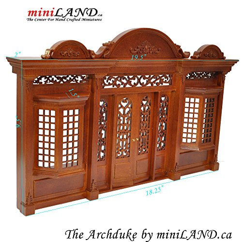 The Archduke - Quality wooden storefront facade 1:12 scale roombox dollhouse miniature walnut by miniLAND - The Center for Hand Crafted Miniatures