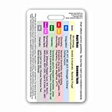 Order of Blood Draw Vertical Badge Card