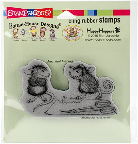 STAMPENDOUS HMCM16 Cling Stamp Monster Mouse