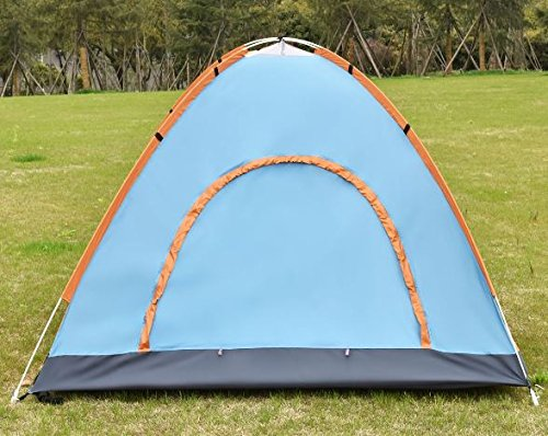 K&A Company Colorful Waterproof Camping Tent Outdoor Hiking 2-3 Persons Orange New Lightweight