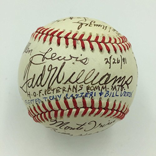 (1991 Hall Of Fame Veterans Committee Signed Baseball 19 Ted Williams Stan Musial - Autographed Baseballs)