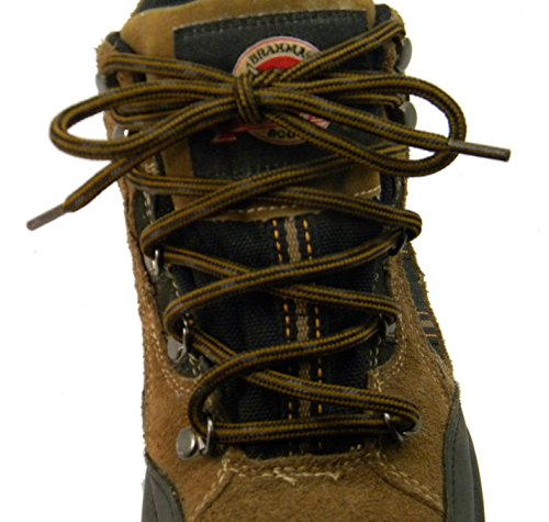 GREATLACES 84 inch Rust w/Black Kevlar (R) proTOUGH(TM) Boot Shoelaces 2 Pair Pack (Hunting Boots Custom)