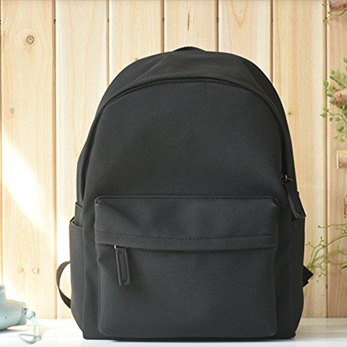 BAGEHUA ご列席の皆様、リュックサック、女子学生を対象とした、バッグ、レジャー、 Pu 、純粋な色の旅行バッグ潮 B075FS9DHG black black