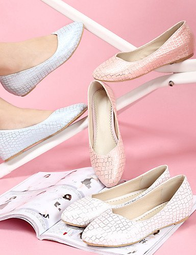 y pink 5 casual rosa Pisos eu33 oficina mujer de carrera plano vestido blanco us3 talón uk1 5 comodidad zapatos de aire libre señaló Toe PDX cn32 al azul fTw16x