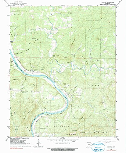 Boswell AR topo map, 1:24000 scale, 7.5 X 7.5 Minute, Historical, 1964, updated 1990, 26.7 x 22 IN - - Sugarloaf Mills Map