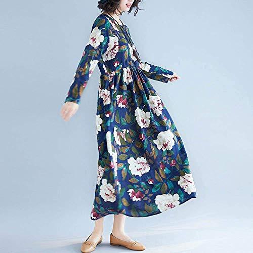 Donna Flora Cotton Color Solid Packing colore Marine Casual Dimensione Swing Marine Long Medium Linen Stampa Abiti Mini Da Wild Hip Maxi Dress 5XqxxA0w