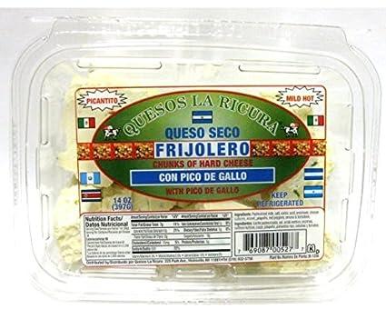 Amazon.com: Queso Seco Frijolero Con Pico de Gallo 14 oz (x4 ...