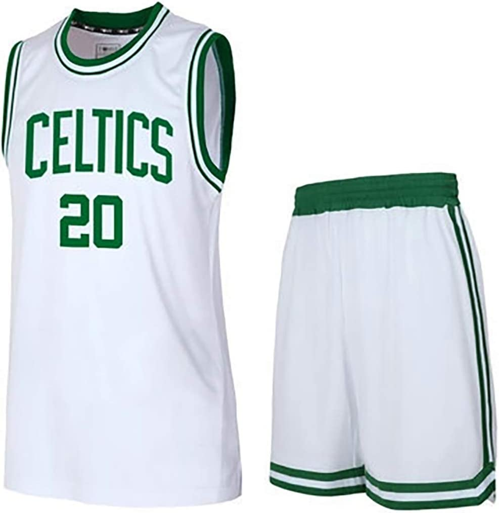 Suitable for No 5 Garnett Basketball Jersey Men /'s Basketball Jersey 2020 Hall of Fame Game Jersey Suit Suitable for Celtics No 20 Allen Basketball Uniform