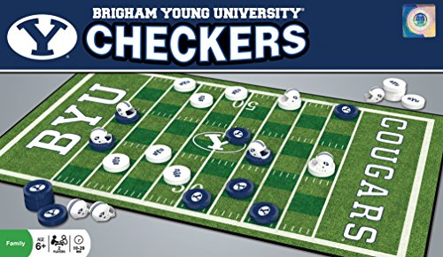 MasterPieces NCAA Brigham Young BYU Cougars Checkers Game ()