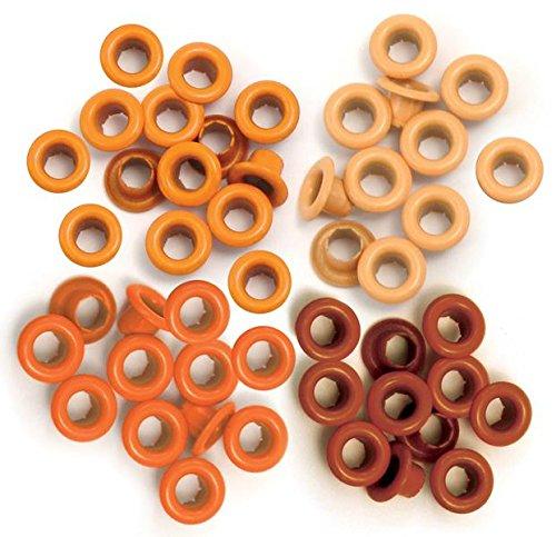 We R Memory Keepers 41574-9 Eyelets for Scrapbooking, Standard, Orange