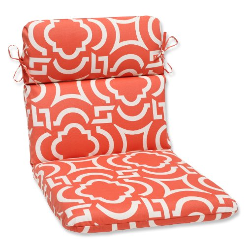 Pillow Perfect Outdoor Carmody Mango Rounded Corners Chair Cushion