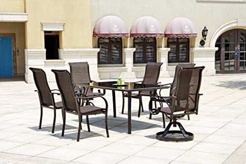Coronado 7 Piece Dining set (Expandable Round Dining Table For Sale)