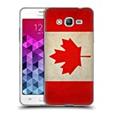 Head Case Designs Canada Canadian Vintage Flags Soft Gel Case for Samsung Galaxy Grand Prime