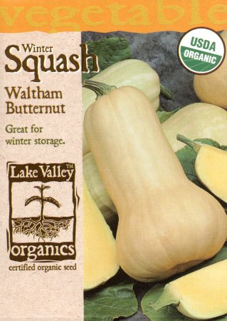Lake Valley 876 Organic Squash Waltham Butternut Seed Packet