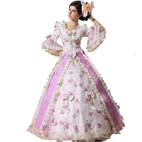 Xnaihuafei Women's Marie Antoinette 17-18th Century Rococo Baroque Gown