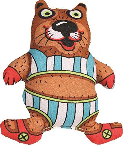 Petstages 291 Madcap Bathing Beaver Dog Squeak Plush Toy