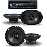 Alpine CDE-172BT, CD Player Car Stereo, Bluetooth, USB/Aux with S-S65 S-Series 6.5-inch Coaxial 2-Way Speakers S-S69 S-Series 6x9-inch Coaxial 2-Way Speakers