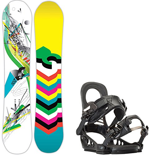 DC Ply 150 Womens Snowboard + K2 Hue Bindings - Fits US Wms Boots Sizes: 6,7,8,9