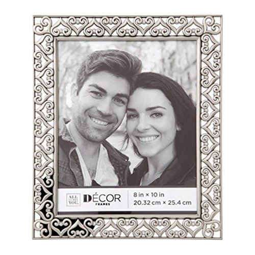Darice 30028703 Jeweled Hearts Pewter Picture Frame: - Figurine Pewter Heart